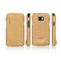 Кожаный чехол книга SGP Leather Case Argos Brown для Samsung i9100 Galaxy S2