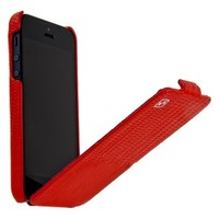 Кожаный чехол HOCO Lizard pattern Leather Case Red для Apple iPhone 5/5S/5SE