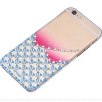 Пластиковый чехол X-Fitted Crystal Hardness Hearts Blue для Apple iPhone 6/6S