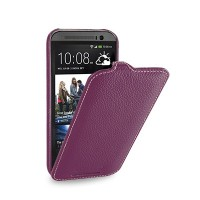Кожаный чехол Melkco Leather Case Purple LC для HTC One M8
