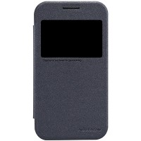 Полиуретановый чехол Nillkin Sparkle Leather Case Black для Samsung G360 Galaxy Core Prime