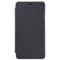 Полиуретановый чехол Nillkin Sparkle Leather Case Black для Xiaomi Redmi Note 2