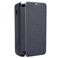 Полиуретановый чехол Nillkin Sparkle Leather Case Black для Nokia Lumia 630
