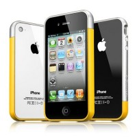 Бампер SGP Linear EX Meteor Series Yellow для Apple iPhone 4/4S