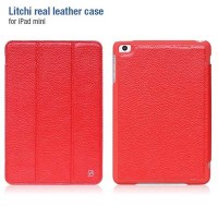 Кожаный чехол HOCO Litchi Series Red для Apple iPad mini