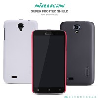 Пластиковый чехол Nillkin Super Frosted Shield Red для Lenovo IdeaPhone A850