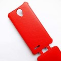 Кожаный чехол Armor Case Red для Alcatel One Touch Idol Mini 2 6016X(#4)