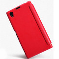 Кожаный чехол Nillkin Leather Stylish Red для Sony Xperia Z1 L39h(#2)