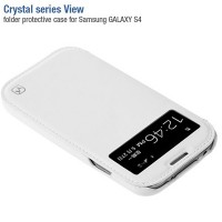 Кожаный чехол HOCO Crystal leather Case White для Samsung i9500 Galaxy S4