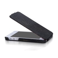 Кожаный чехол Borofone Lizard flip Leather Case Black для Apple iPhone 5/5S/5SE