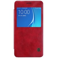 Кожаный чехол Nillkin Qin Leather Case Red для Samsung J710F Galaxy J7 (2016)