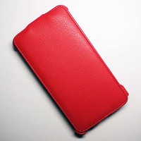Кожаный чехол Armor Case Red для Samsung N9000 Galaxy Note 3