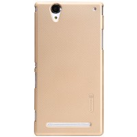 Пластиковый чехол Nillkin Super Frosted Shield Gold для Sony Xperia T2 Ultra Dual