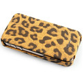Кожаный чехол Nuoku Leopard Series Case Brown для Apple iPhone 4/4S(#2)