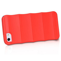 Силиконовый чехол HOCO Cool Bamboo Crystal Case Red для Apple iPhone 5/5S/5SE