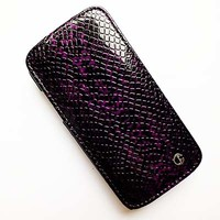 Кожаный чехол Rada Brauffen Case Purple Snake для Samsung i9190 Galaxy S4 mini