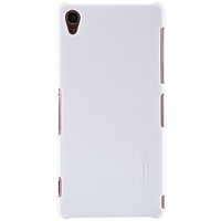 Пластиковый чехол Nillkin Super Frosted Shield White  для Sony Xperia Z3 D6603