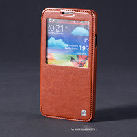 Кожаный чехол HOCO Crystal leather Case Brown для Samsung N9000 Galaxy Note 3
