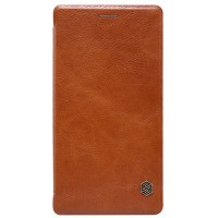 Кожаный чехол Nillkin Qin Leather Case Brown для Sony Xperia C4