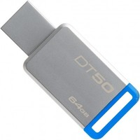 Флешка USB 3.1 (тип A) Kingston DataTraveler 50 64GB Metal/Blue (DT50/64GB)