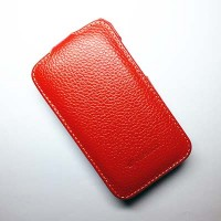Кожаный чехол Melkco Leather Case Red LC для HTC Desire 200