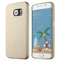 Кожаная накладка Baseus Slim Soft Series Case Gold для Samsung G925F Galaxy S6 Edge