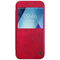 Кожаный чехол Nillkin Qin Leather Case Red для Samsung A520F Galaxy A5 (2017)