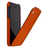 Кожаный чехол HOCO Lizard pattern Leather Case Orange для Apple iPhone 5/5S/5SE