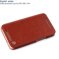 Кожаный чехол HOCO Crystal Series Brown для HTC One M7