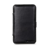 Кожаный чехол книга Melkco Leather Case Kios Type Black LC для Samsung N7000 Galaxy Note