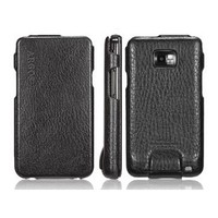 Кожаный чехол книга SGP Leather Case Argos Black для Samsung i9100 Galaxy S2