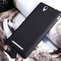 Пластиковый чехол Nillkin Super Frosted Shield Black для Sony Xperia C3 S55t