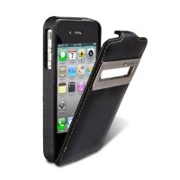 Кожаный чехол Melkco Leather Case ID Type Black для Apple iPhone 4/4S