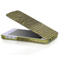 Кожаный чехол Borofone Lizard flip Leather Case Yellow для Apple iPhone 5/5S/5SE