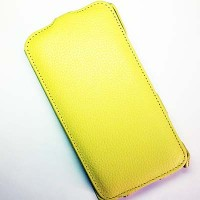 Кожаный чехол Abilita Leather Case Yellow для Nokia Lumia 1320