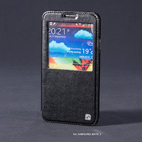 Кожаный чехол HOCO Crystal leather Case Black для Samsung N9000 Galaxy Note 3
