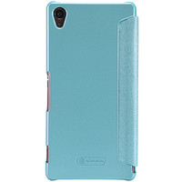 Полиуретановый чехол Nillkin Sparkle Leather Case Blue  для Sony Xperia Z3 D6603