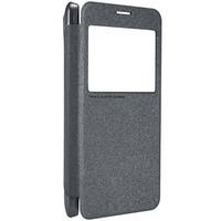 Полиуретановый чехол Nillkin Sparkle Leather Case Black  для Samsung G750F Galaxy Mega 2