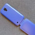Кожаный чехол Up Case Blue для Samsung i9190 Galaxy S4 mini(#4)