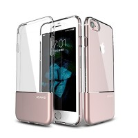 Силиконовый чехол Usams TPU Aluminium Case Cover Pink для Apple iPhone 6/6S