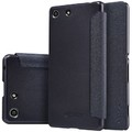 Полиуретановый чехол Nillkin Sparkle Leather Case Black для Sony Xperia M5(#3)
