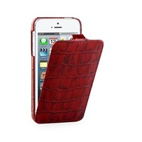 Кожаный чехол TETDED Troyes DUO Red Crocodile для Apple iPhone 5/5S/5SE