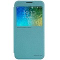 Полиуретановый чехол Nillkin Sparkle Leather Case Blue для Samsung Galaxy E5(#1)