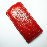 Кожаный чехол Abilita Leather Case Red Crocodile для HTC Desire 610