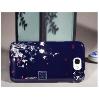 Пластиковый чехол Nillkin Platinum Series Flowers 1 для Samsung N7100 Galaxy Note 2