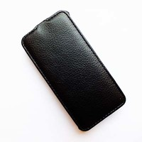 Кожаный чехол Armor Case Black для Alcatel One Touch Idol Mini 2 6016X