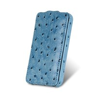 Чехол Melkco Leather Case Ostrich Pattern Blue для Samsung i9100 Galaxy S2