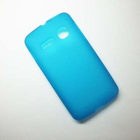 Силиконовый чехол Becolor Light Blue Mat для Alcatel One Touch SPOP 4030D