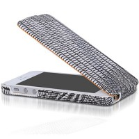 Кожаный чехол Borofone Lizard flip Leather Case White для Apple iPhone 5/5S/5SE