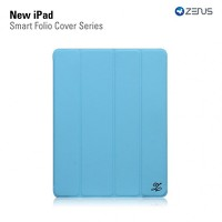 Кожаный чехол Zenus Smart Folio Cover Series Blue для Apple iPad 4/3/2
